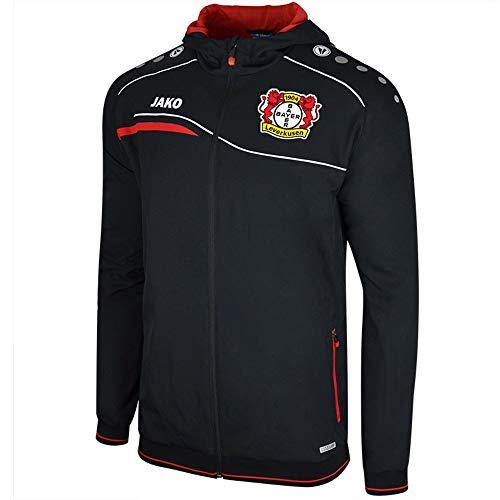 Jako Bayer 04 Leverkusen Einlaufjacke mit Kapuze schwarz-rot Kinder schwarz/rot, 140