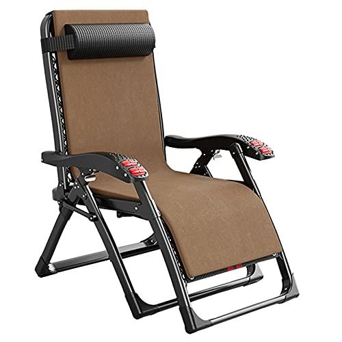 LLMY liegestuhl Klappstuhl, Klappbare Outdoor-liegestühle, Doppelrollenmassage, Verbreiterung Der Armlehnen, mit Großem Getränkehalter, Größe 52 X 100 X 85 cm (20 * 39 * 33 Zoll)