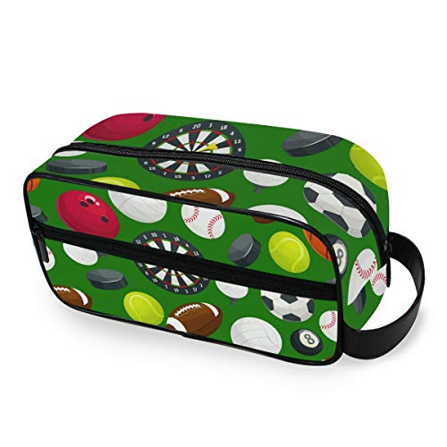 Sport-Kosmetiktasche mit Baseball-Muster, tragbare Make-up-Tasche, multifunktionale Aufbewahrungstasche aus Segeltuch für Frauen und Mädchen
