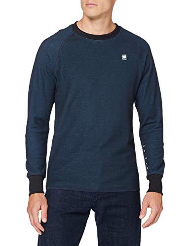 G-STAR RAW Herren T-Shirt Jirgi Tape Detail, Mazarine Blue/Cricket Blue 8633-B907, X-Large