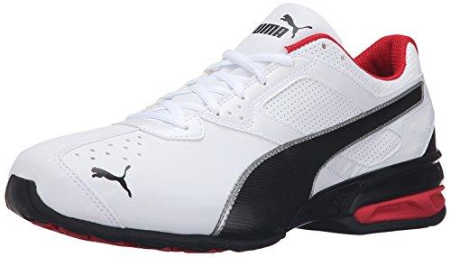 PUMA Herren Tazon 6 Sneaker, White Black Silver, 42.5 EU
