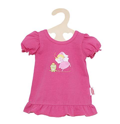 Heless 1265 - Nachthemd für Puppen, mit Fee und Frosch Motiv, in Pink, Größe 28 - 35cm