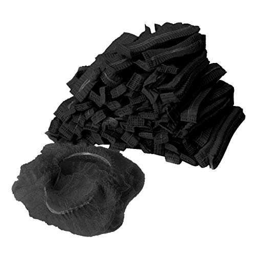 oshhni 100 Stück Mob Cap Haarnetz Elastische Hüte Kopfbedeckung Küche Industrie - Schwarz