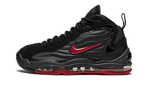 Nike Herren AIR TOTAL MAX Uptempo Basketballschuh, Black Varsity Red Black, 45.5 EU