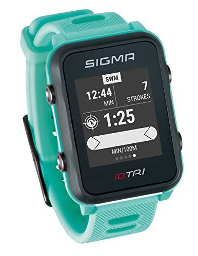 Sigma Sport iD.TRI GPS Triathlon-Uhr mit Trainings- und Wettkampffeatures, Navigation, Smart Notifications, leicht und wasserdicht, inkl. Fahrradhalterung