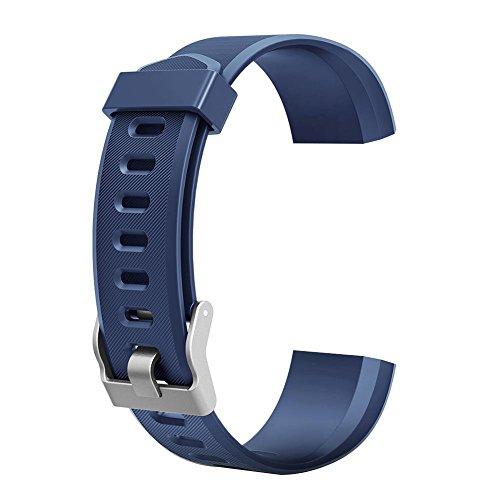 Demiawaking Ersatz-Armband für ID115Plus HR Smart Watch, Blau