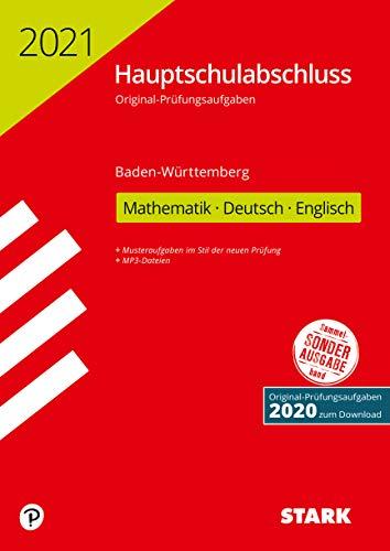 STARK Original-Prüfungen Hauptschulabschluss 2021 - Mathematik, Deutsch, Englisch 9. Klasse - BaWü (STARK-Verlag - Abschlussprüfungen)