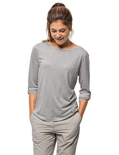 Jack Wolfskin Damen Coral Coast 3/4 T-Shirt, Light Grey, M1806531.0