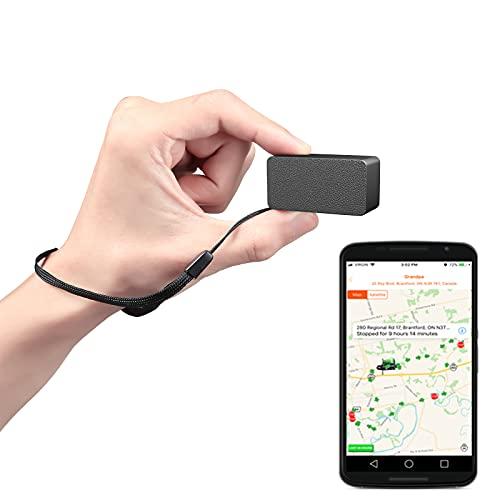 mini gps tracker auto mit free app klein locator fahrrad anti-thief echtzeit tracking für kinder hund taschen brieftasche schulranzen schwarz