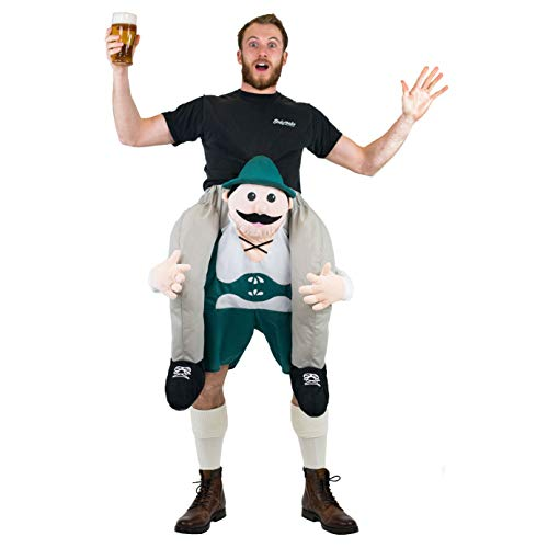Bodysocks® Lederhosen Huckepack (Carry Me) Kostüm für Erwachsene