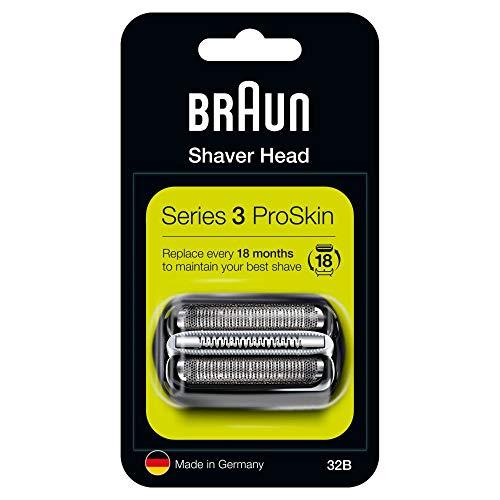 Braun Series 3 32B Elektrorasierer Ersatzscherteil – schwarz – kompatibel mit Series 3 ProSkin Rasierern