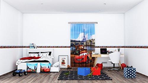 AG Design Disney Cars Wand Sticker, Selbstklebende Folie, Mehrfarbig, 500 x 14 cm