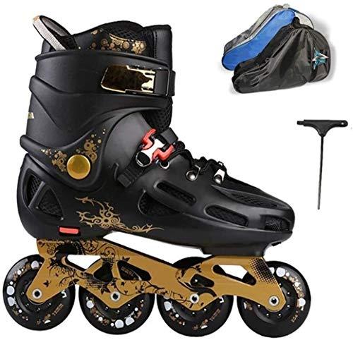 LQ Unisex-Jugend Inline Skates 4 Räder Größe 39-43 Frauen Männer Roller Skates, 2 Farben (Color : Black A, Size : EU 42US 9UK 8JP 26cm)