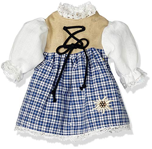 Puppenmode Sturm 8835-0 Dirndl für Puppen, Blau