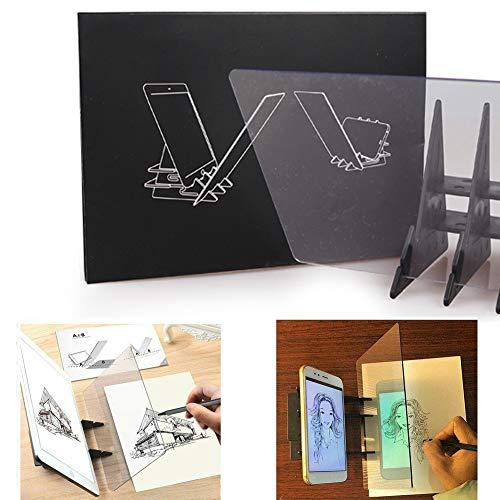 Optisches Zeichenbrett Zeichenbrett Skizzieren Linse Skizze Assistent Bildreflexion Projektor Malbrett Kopiertisch Projektion Linyi-Brett Plotter Zeichenhilfe für Kinder Anfänger