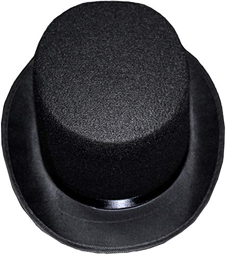 Zylinder Filz, Gr. 58 cm / Gr. 60 cm, Sortiert, Filz, Mottoparty, Partyhut, Karneval schwarz Zylinder-Hut Kopfbedeckung originel Zauberer Gentleman (60)