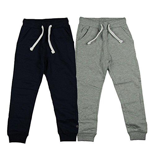 MINYMO Jungen Minymo 2er Pack Sweat Pants/Freizeithose fürJungen Hose, Mehrfarbig (Dark Navy/Grau 778), 104 EU