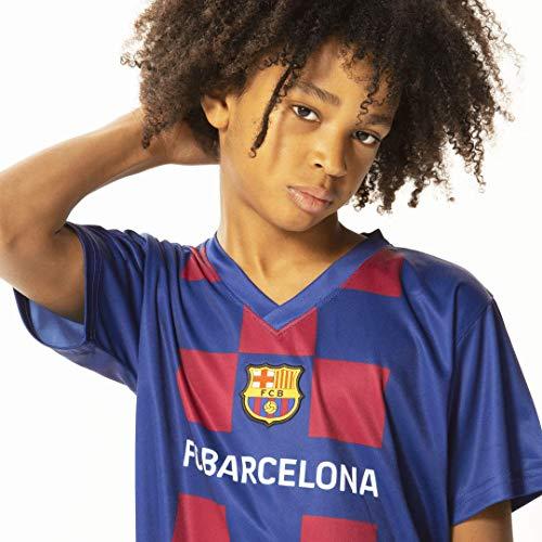 Morefootballs - Offizielles FC Barcelona Heimspiel Trikot Set Saison 19/20 Größe 164   Vollständiges Tenue mit Barca Trikot und kurzer Hose   100 % Polyester Fußball Shirt und Shorts im Blaugrana Look