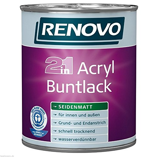 2,5 Liter RENOVO Acryl-Buntlack weiß seidenmatt