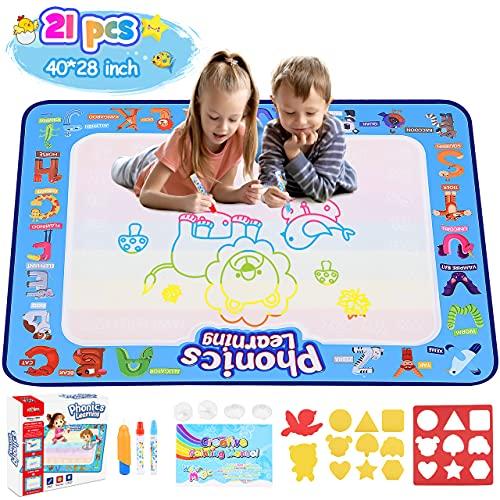 Tesoyzii Spielzeug Mädchen 2 3 4 5 6 Jahre, Aqua Doodle Kinder Spielzeug Jungen 2 3 4 5 6 Jahre Mädchen Geschenke 2-6 Jahre Spielzeug 2-6 Jahre Junge Geschenk Junge 2-6 Jahre Spielzeug ab 2 3 4 5 Jahr