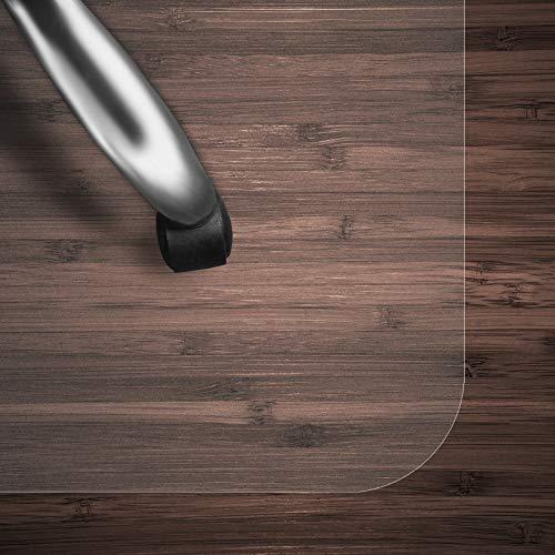 Bodenschutzmatte Transparent für Hartboden | Schreibtischstuhl Unterlage für Büro und Wohnen | Bodenmatten wahlweise für Teppich/Hartböden (Hartboden 75x120 cm)
