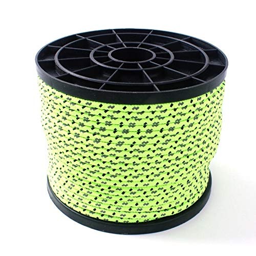 Xinlie Reflektierende Schnüre und Seile Seil Abspannseile Leuchtend Reflektierend Fluoreszierendes Anleitung Allzweckseil Zelt Schnur Guy Seil für Camping Vorzelt Zelt 50 Meter