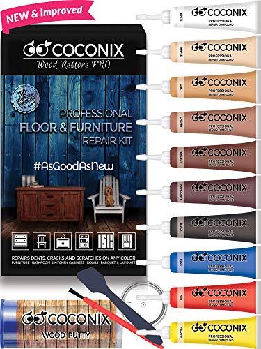 Coconix Boden- und Möbelreparaturset - Restaurierung Ihres Holztischs, Schranks, Furniers, Tür- und Nachttisches - Super einfache Anleitung für Jede Farbe