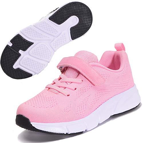 Gaatpot Kinder Turnschuhe Mädchen Leichte Sportschuhe Jungen Laufschuhe Hallenschuhe Outdoor Casual Sneaker Schuhe Rosa 28