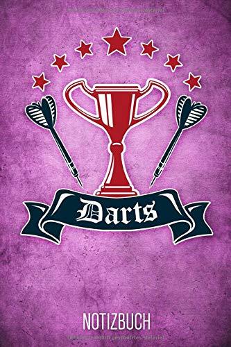 Darts Notizbuch: Lilanes liniertes Dart Notizheft für Dartspieler ca DIN A5 weiß liniert 110 Seiten