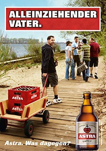ASTRA Bier Werbung/Reklame Plakat Poster DIN A1 59,4 x 84,1cm Alleinziehender Vater