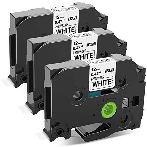 Upwinning kompatibel Schriftbänder als Ersatz für Brother P-touch Bänder TZe-231, TZ Tape 12mm 0.47 White Cassette für Brother Beschriftungsgerät H105 H101c 1010 1000 1290, Schwarzer Druck auf Weiß