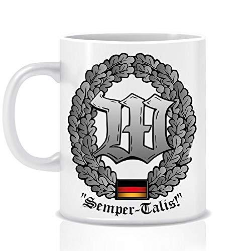 Feldschmiede Bundeswehr Wachbataillon Barettabzeichen Tasse