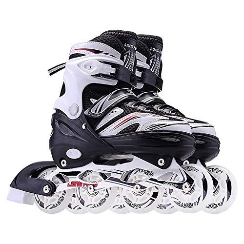 Rollschuhe Gerade Rollschuhlaufen Eisschnelllaufschuhe Roller Skates Passend Für Anfänger Kinder Und Jugendliche Komfortabel Sicherheit Vier Runden Im Freien Roller Skates,Schwarz,36