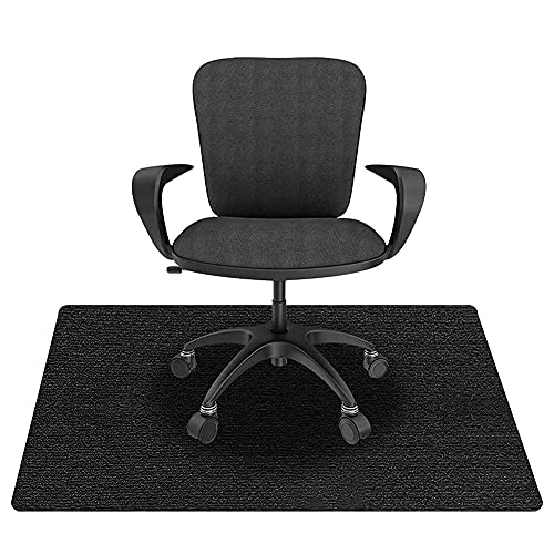 KAZOLEN Bodenschutzmatte für Hartböden, Bürostuhlunterlage, Bodenmatte Stuhlunterlage, Mehrzweck-Stuhlteppich, Bodenschutzmatte für Laminat, Parkett, Fliesen (schwarz 90 x 120 cm)