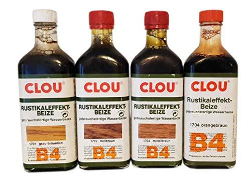 2 x 0,25 L Aqua Clou B4 Rustikaleffekt Beize Farbwahl 0,5 L, Farbe:B4 (1701) grau-bräunlich