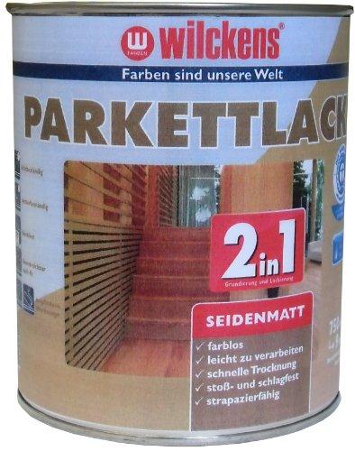 Wilckens 2in1 Parkettlack seidenmatt, farblos, 750 ml 12400100050