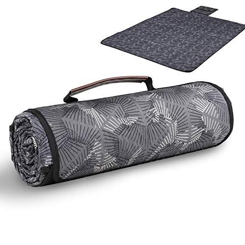 Sekey 170 x 140cm wasserdichte Picknickdecke   waschbare Picknickmatte mit tragbarem Griff   Campingdecke Stranddecke für Outdoor