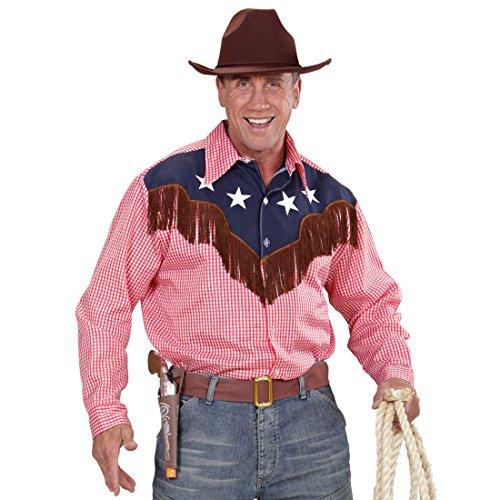 Amakando Country Cowboyhemd - M/L (50/52) - Westernkleidung Herren Westernkostüm Cowboy Hemd Wilder Westen Wild West Outfits Rodeo Westernhemd