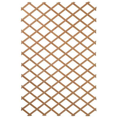 Nature Holz Garten Rankgitter 50x150cm Rankhilfe Spalier Holzgitter