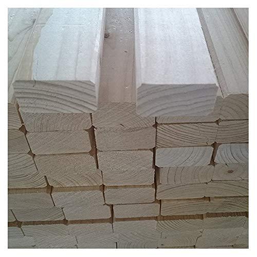 Naturbelassenes Holz 10 Stück B/C - Ware KVH Rahmenholz 24mm x 44mm x 2000mm Fichte Leisten gehobelt gefast Gartenzaun Zaun Kleintiergehege