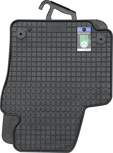 PETEX 61210 Gummimatten für passend für Golf V Plus ab 02/2005-04/2014 Fußmatten schwarz 4-teilig