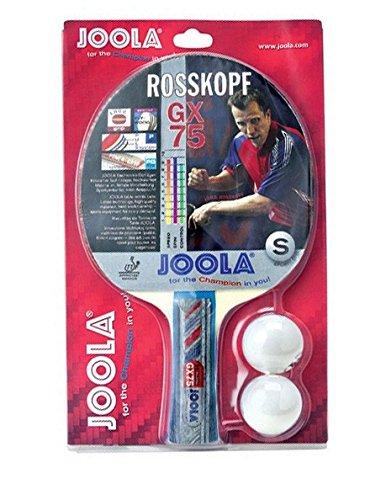 JOOLA Tischtennisschläger ROSSKOPF GX 75 Tischtennis-Schläger ITTF Zulassung 5-fach verleimtes Spezialsperrholz Inklusive 2 Tischtennisbälle, 2,0 MM Schwamm