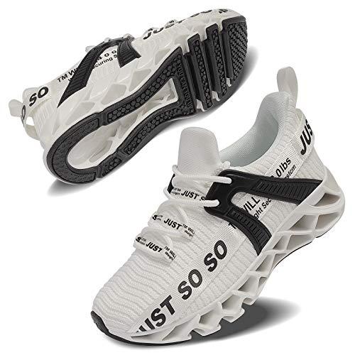 Vivay Turnschuhe Jungen Wasserdicht Wanderschuhe Sneakers Kinder Trekking Schuhe Outdoor Sportschuhe Laufschuhe,2Weiß,37 EU