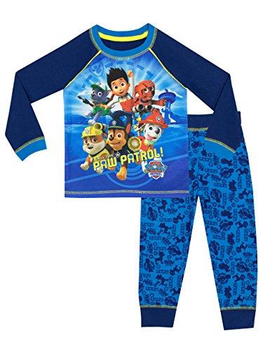 Paw Patrol Jungen Ryder Chase Marshall Schlafanzug Mehrfarbig 110 (Herstellergröße: 4-5 Jahre)