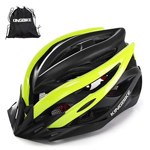 KING BIKE Fahrradhelm Helm Bike Fahrrad Radhelm mit LED Licht FüR Herren Damen Helmet Auf Die Helme Sportartikel Fahrradhelme GmbH RennräDer Mountain Schale Mountainbike MTB(L/XL(59-62CM)