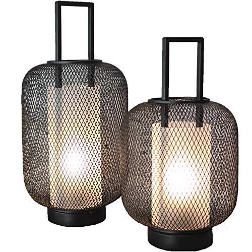 FlinQ Deko LED Laternen für Draußen und Drinnen ✓ 2er Set Windlicht Laternen mit Warmweißem Licht und Dimmer ✓ IP44 Spritzwasserdicht für den Outdoor-Einsatz ✓ Kabellos und mit Timer-Funktion