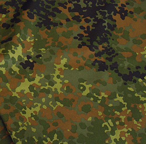TOLKO Camouflage Stoff im Bundeswehr Armee Flecktarn | Robust Farbecht UV-beständig | Uniform Meterware aus Baumwolle | mittelschwer 160cm breit (Bundeswehr)