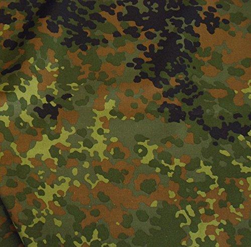 TOLKO Camouflage Stoff im Bundeswehr Armee Flecktarn   Robust Farbecht UV-beständig   Uniform Meterware aus Baumwolle   mittelschwer 160cm breit (Bundeswehr)
