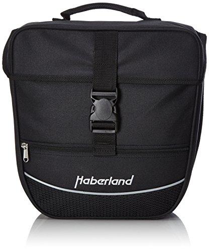 Haberland Unisex– Erwachsene Fahrradtasche Einzeltasche Einsteiger-Serie, Schwarz, 30 x 32 x 13 cm, 12.5 Liter