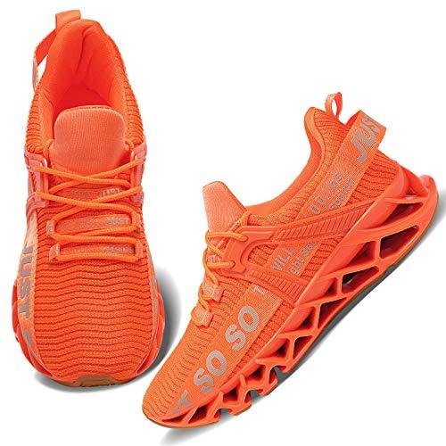 Wonesion Damen Laufschuhe Sportschuhe Straßenlaufschuhe Sneaker Damen Tennisschuhe Fitness Schuhe 39 EU 5 Orange